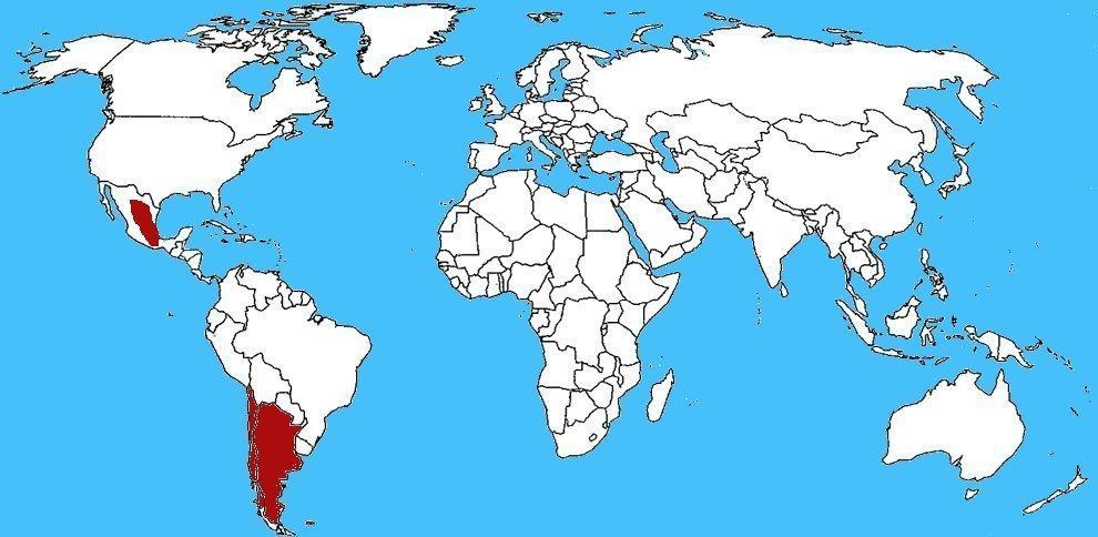 Mappa diffusione Formica panda - Euspinolia militaris