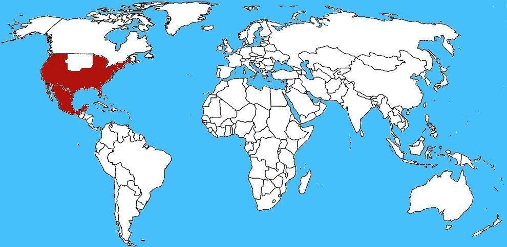 Mappa diffusione Sphecius speciosus - Vespa killer delle cicale