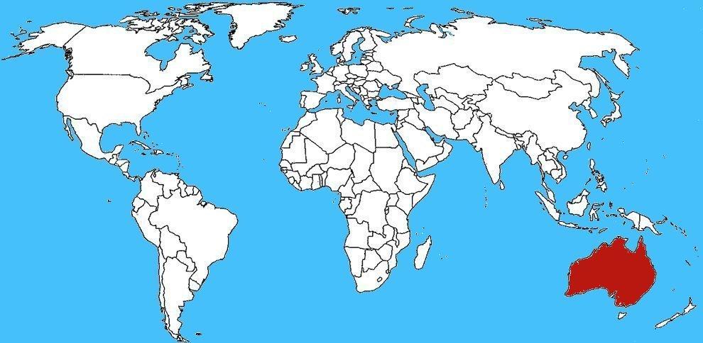 Mappa diffusione Serpente Bruno Occidentale - Pseudonaja nuchalis