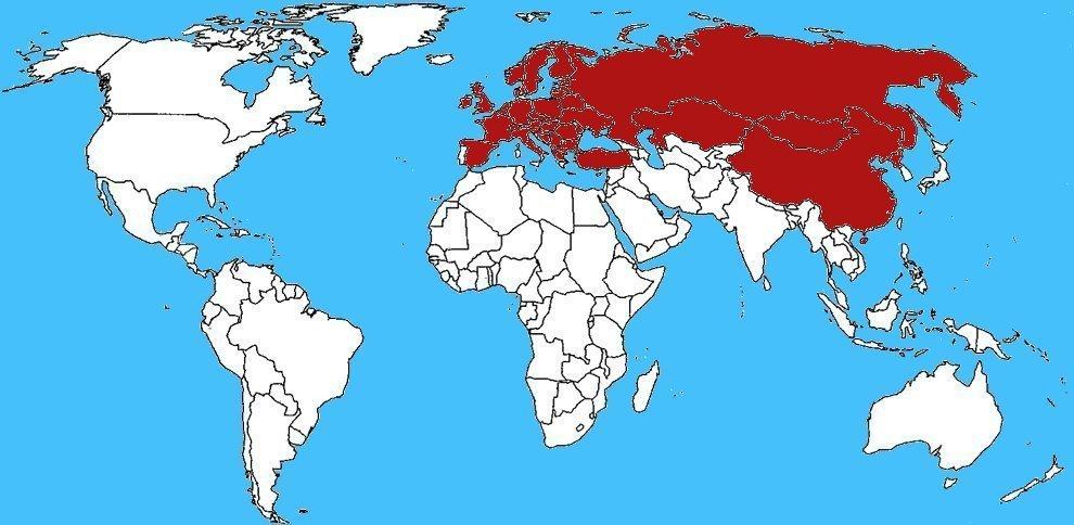 Mappa diffusione Toporagno d'acqua - Neomys fodiens