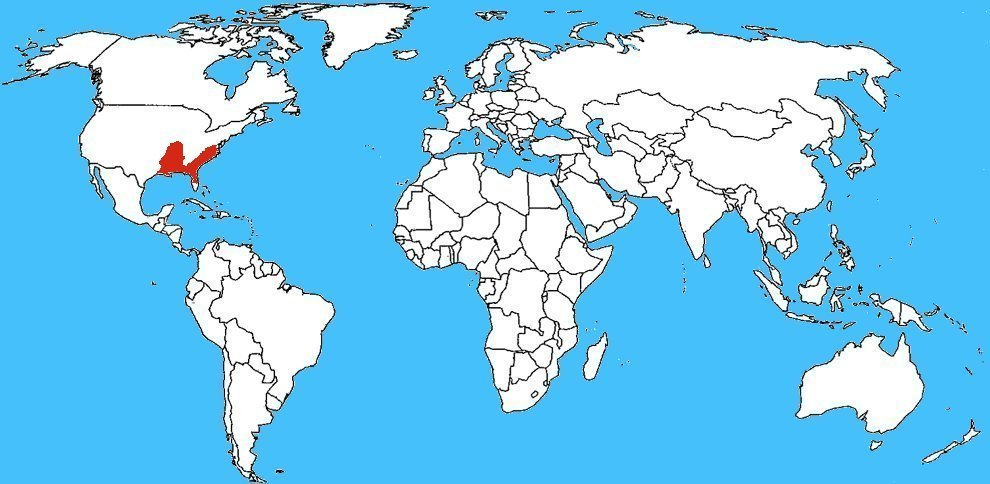 Mappa diffusione Blarina carolinensis - Toporagno codacorta meridionale