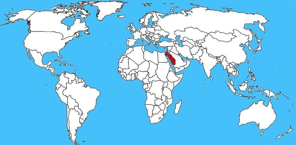 Mappa diffusione Vipera talpa israeliana - Atractaspis engaddensis