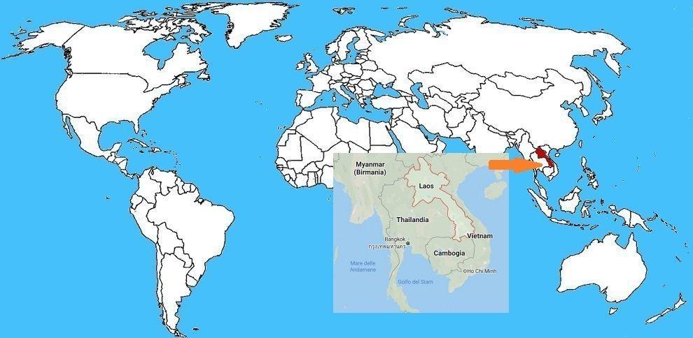 Mappa diffusione Ragno cacciatore gigante - Heteropoda maxima