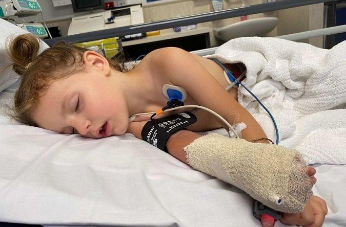 Bambina di 3 anni morsa da serpente velenoso